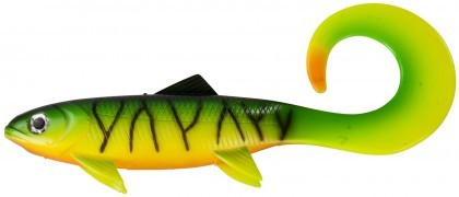 DAM Effzett Pike Seducer Curltail Loose Body Firetiger 23 cm 86 g