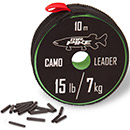 Quantum Mr. Pike Camo Coated Leader Material 10 m 7 kg/15 lbs