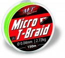 Magic Trout Ø0,08mm Micro T-Braid 150m 5,45kg,12lbs rot