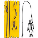 Black Cat Bouy and Boat Ghost Double Hook Rig XL 1,40 m